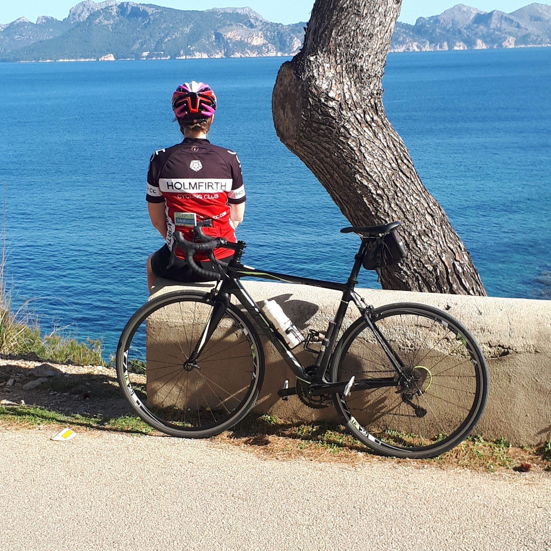 Jane with bike